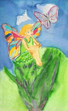 aquarel - fairy by Margareth Lee, copyright 1996